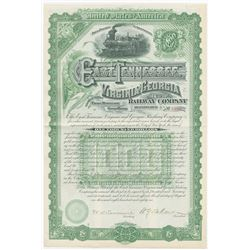 East Tennessee, Virginia and Georgia Railway Co., 1886 Issued Registered Bond
