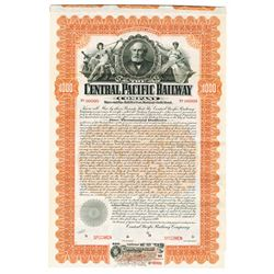 Central Pacific Railway Co. 1899. Specimen Bond.