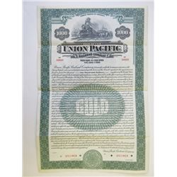 Union Pacific Railroad Co., 1928 Specimen Bond