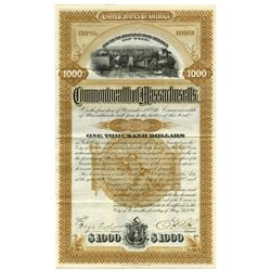 Commonwealth of Massachusetts 1896 Cancelled Bond
