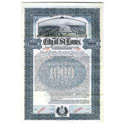 City of St. Louis, 1907 Specimen Bond