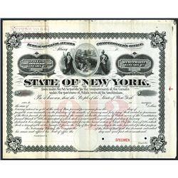 State of New York. 1895, Specimen Bond.
