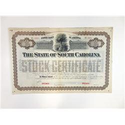 State of South Carolina, ca.1880-1900 Specimen Bond
