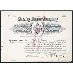 Greeley Sugar Co., 1903 Issued Stock.