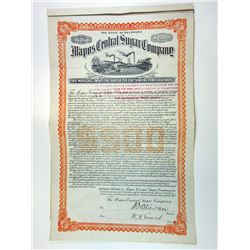 Mapos Central Sugar Co., 1912 Issued $500 Gold Coupon Bond.