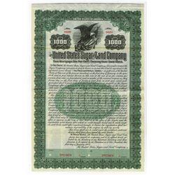 United States Sugar & Land Co., 1909 Specimen Bond.