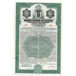 American Telephone and Telegraph Company, 1936 Specimen Coupon Bond.