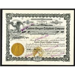 Eastern Oregon Telephone Co. 1903 Stock Certificate.