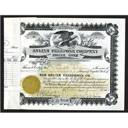 Salina Telephone Co. 1928 Stock Certificate.