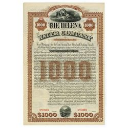 Helena (Montana) Water Co., 1887 Specimen Bond.