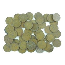 Lot (50) George V One Cent Coins