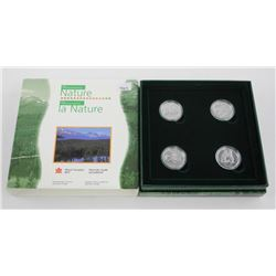 RCM Little Wild Ones 4 Coin Set, 925 Sterling Silv