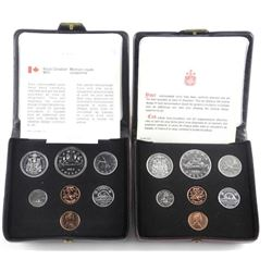 Lot (2) RCM Double Penny Specimen Sets: 1977 and 1
