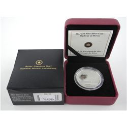 2011 .9999 Fine Silver $10.00 Coin 'Highway of Her
