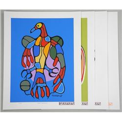 "Norval Morrisseau (1931-2007) 'A Shaman's Vision' Folio 4 x 11x14"" Serigraphics. LE/50 Worldwide, wi"