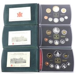 Lot (3) Proof Coin Sets: 1998-1999-2000