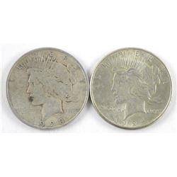 Lot (2) USA Dollars: 1923 and 1924