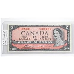 (LUN 22) Bank of Canada 1954 Two Dollar Note. GEM