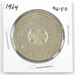 1964 Canada Silver Dollar AU-50