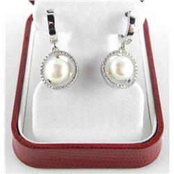 Ladies .925 Silver Earrings with Fresh Water Pearl