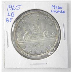 1965 Canada Silver Dollar. MS60. LB B5