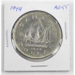 1949 Canada Silver Dollar AU-55
