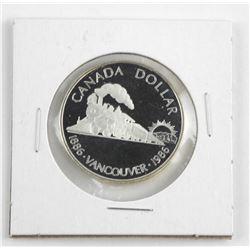 1986 Proof Canada Silver Dollar