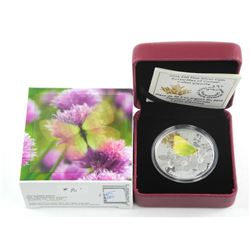 .9999 Fine Silver $20.00 Coin 2015 Butterfly