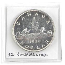 1952 Canada Silver Dollar NO NWL