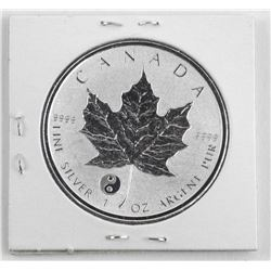 .9999 Fine Silver Maple Leaf $5.00 Coin Reverse with Privy
