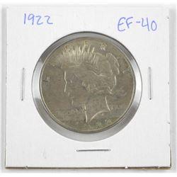 1922 US Peace Dollar EF40