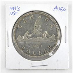 1953 Canada Silver Dollar (AU50) N.S.F.