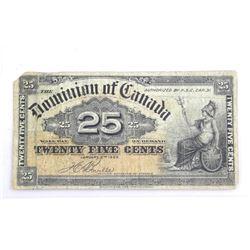 Estate - 1900 Dominion of Canada 25 Cent Note 'BOVILLE' (F)