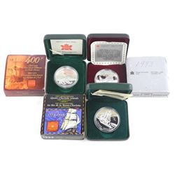Lot (3) 925 Sterling Silver Proof 1.00 Coin 1993, 1999, 2004