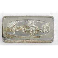 .9999 Fine Silver Vintage Ingot 2oz Silver Bar 1000 Grains