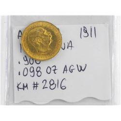 Austria 1911 10 Corona Gold Coin .900 Fine