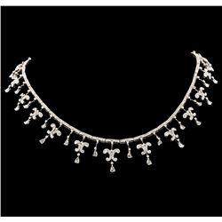 7.45 ctw Diamond Necklace - 18KT White Gold