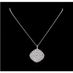 2.15 ctw Diamond Pendant with Chain - 18KT White Gold