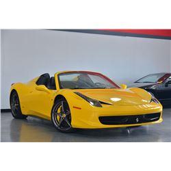 2014 Yellow Ferrari 458 Spider Base Convertible