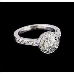 1.63 ctw Diamond Ring - 14KT White Gold
