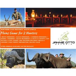 Plains Game for 2 Hunters in South Africa