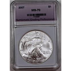 2007 AMERICAN SILVER DOLLAR