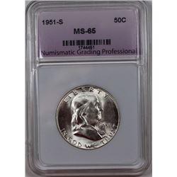 1951-S FRANKLIN HALF DOLLAR