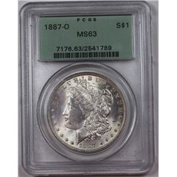 1887-O MORGAN MS63 LOOKS MS64+