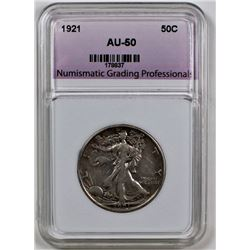 1921 WALKING LIBERTY HALF DOLLAR NGP