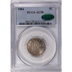 1884 LIBERTY NICKEL PCGS AU 58