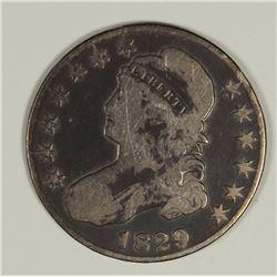 1829 9/7 BUST HALF DOLLAR