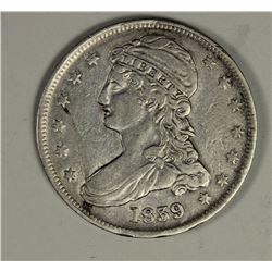 1839 BUST HALF DOLLAR XF