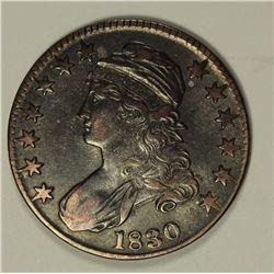 1830 BUST HALF DOLLAR XF/AU.