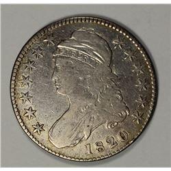 1820 BUST HALF DOLLAR VF
